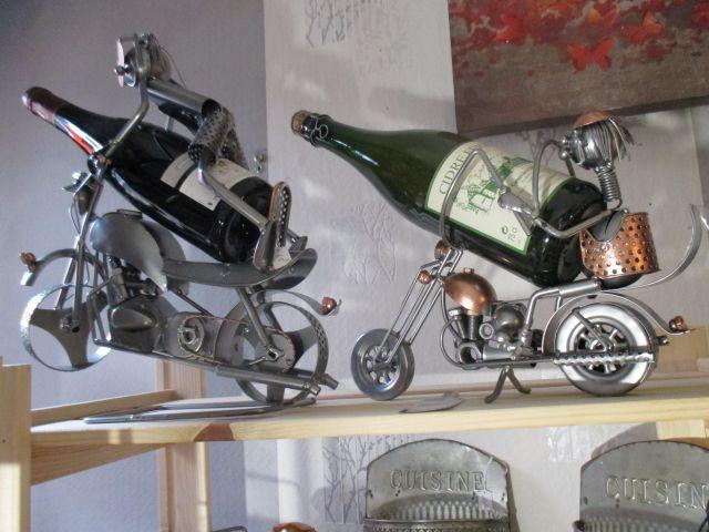 Porte bouteille en metal moto
