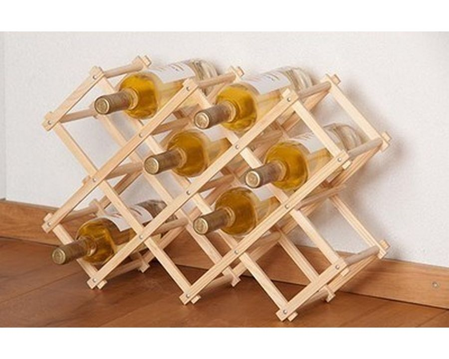Support bois bouteille vin