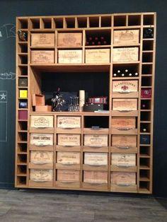 Armoire a vin en bois