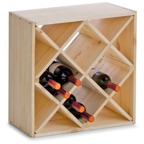Porte bouteille vin bois