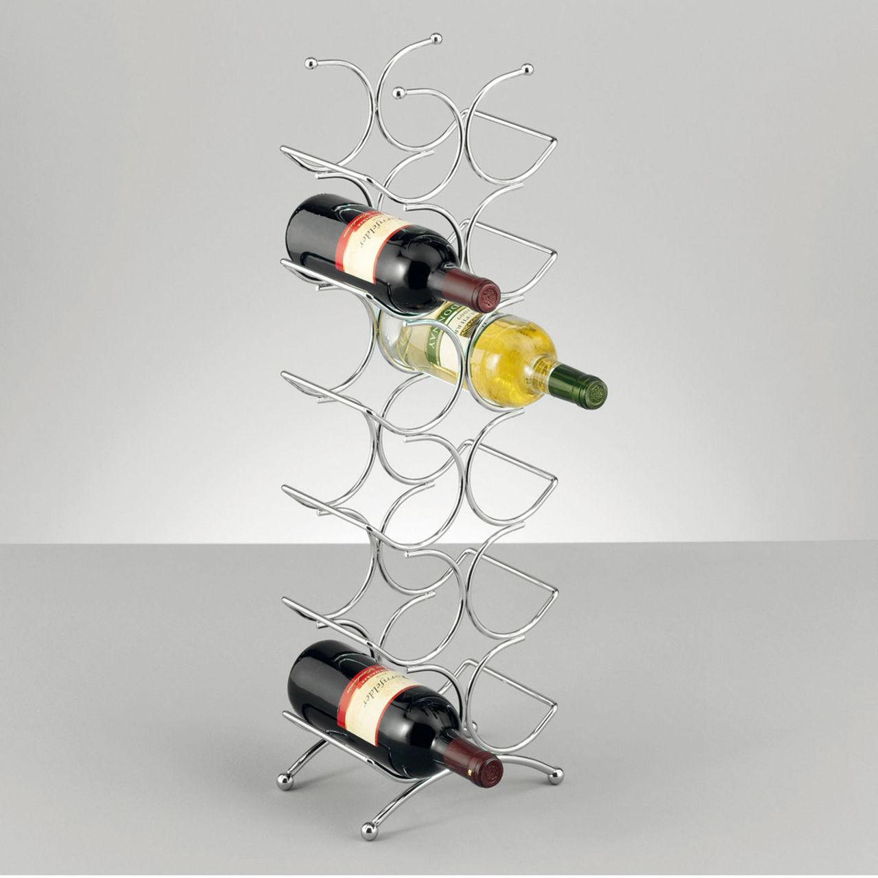 Porte bouteille design metal