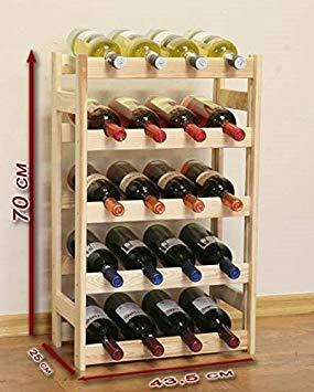 Casier en bois pour bouteille de vin