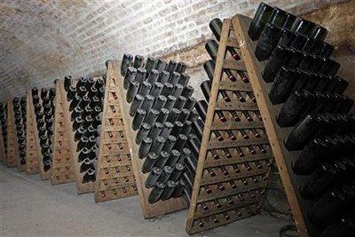 Porte bouteille champagne en bois