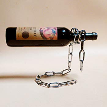 Porte bouteille design chaine