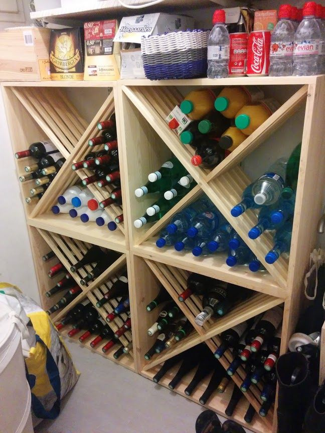 Range bouteille bar design