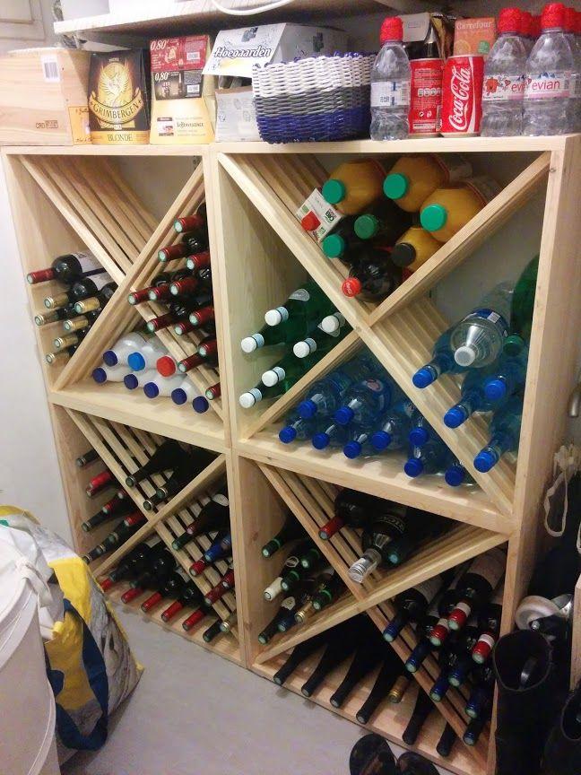 Rangement bouteille de vin maison