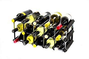 Casier 15 bouteilles bois/galva