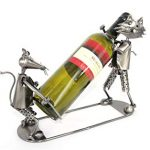 Porte bouteille metal chat