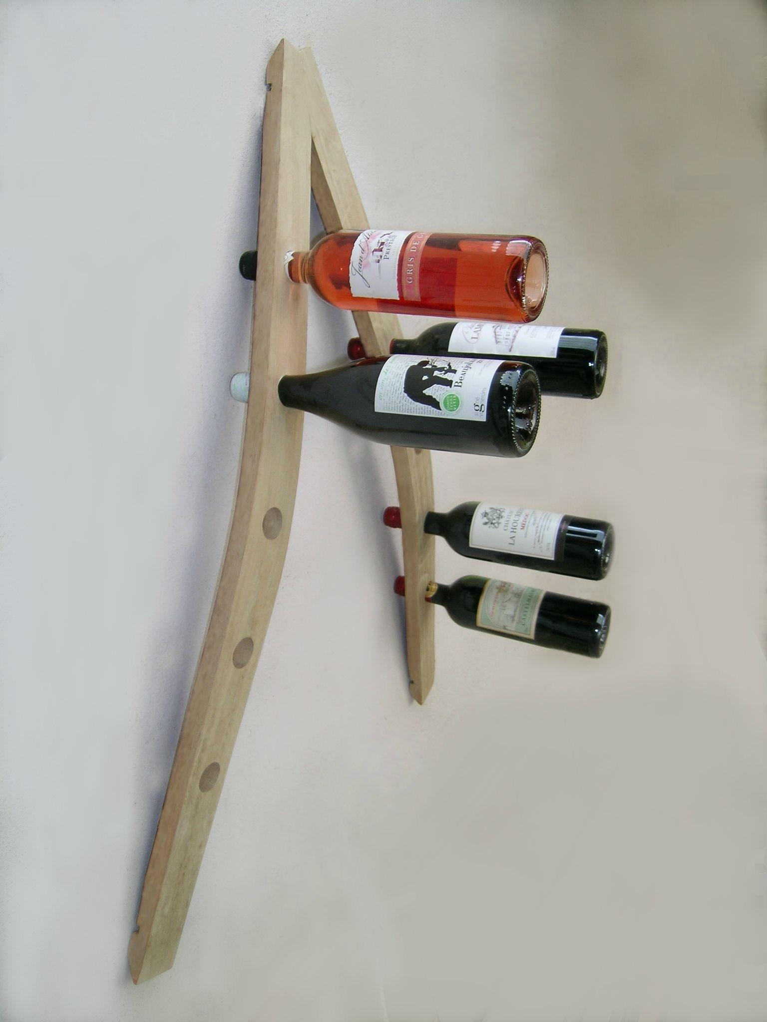 Porte bouteille de vin artisanal