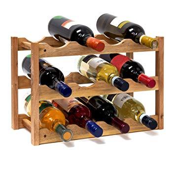 Casier bouteille de vin bois