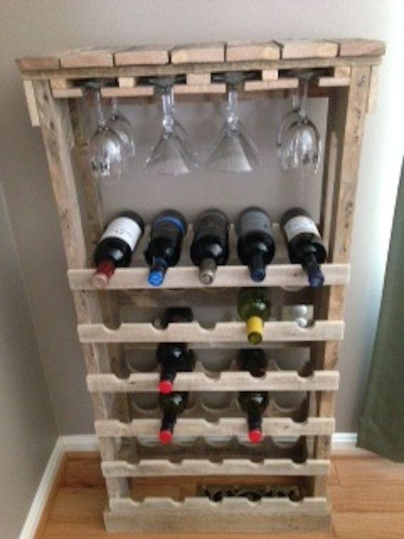Porte bouteille bois palette