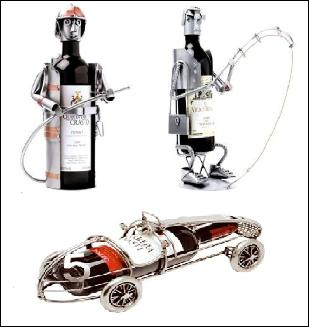 Porte bouteille en acier