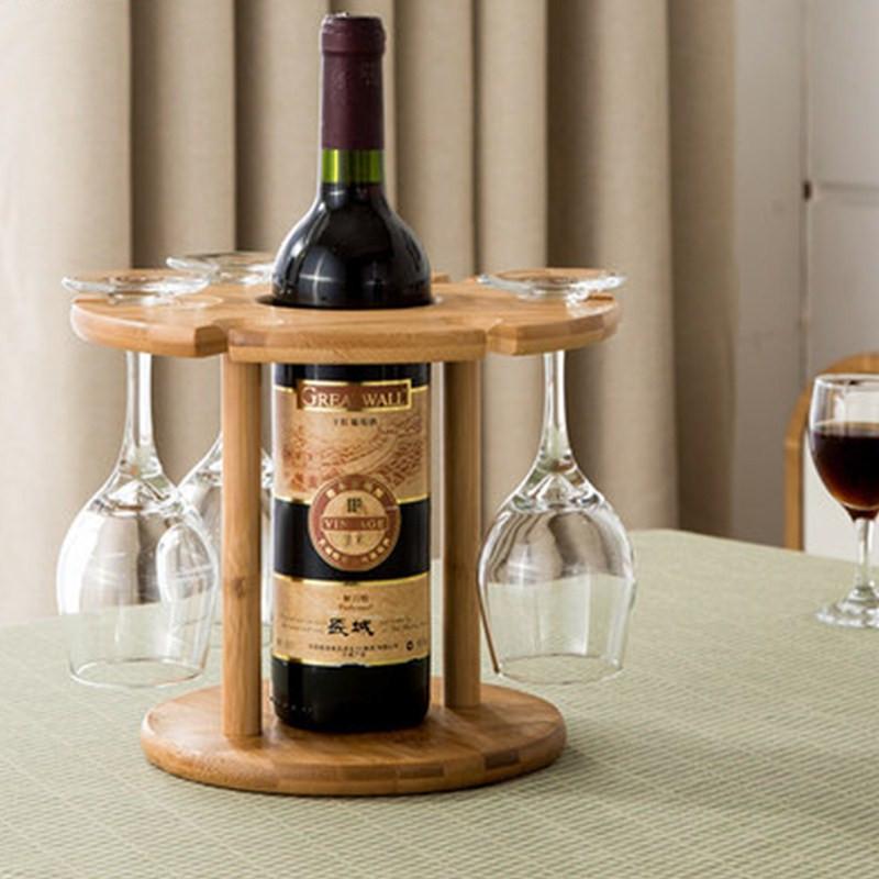 Porte bouteille vin et verre