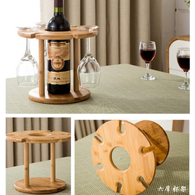 Porte bouteille vin sur pied