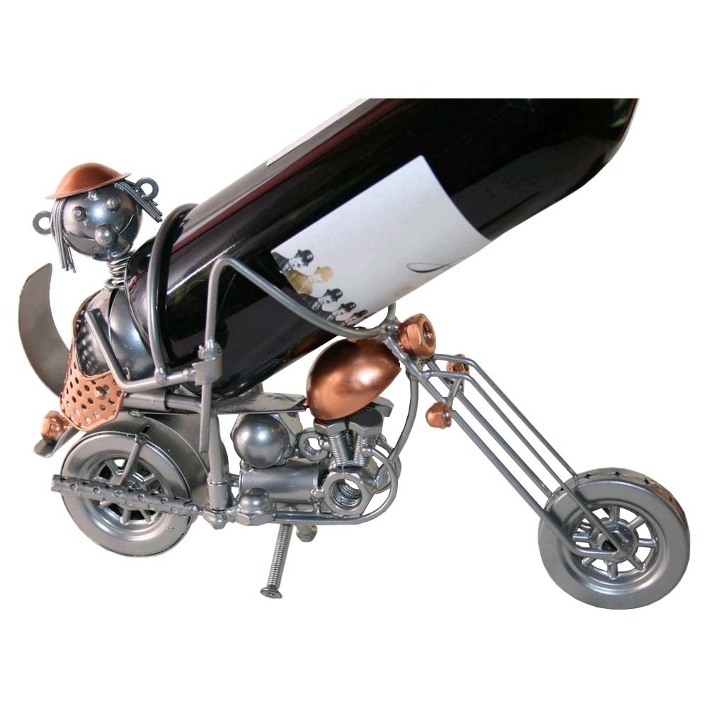 Porte bouteille acier moto