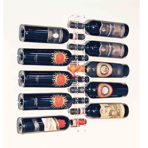 Porte bouteille mural plexiglas
