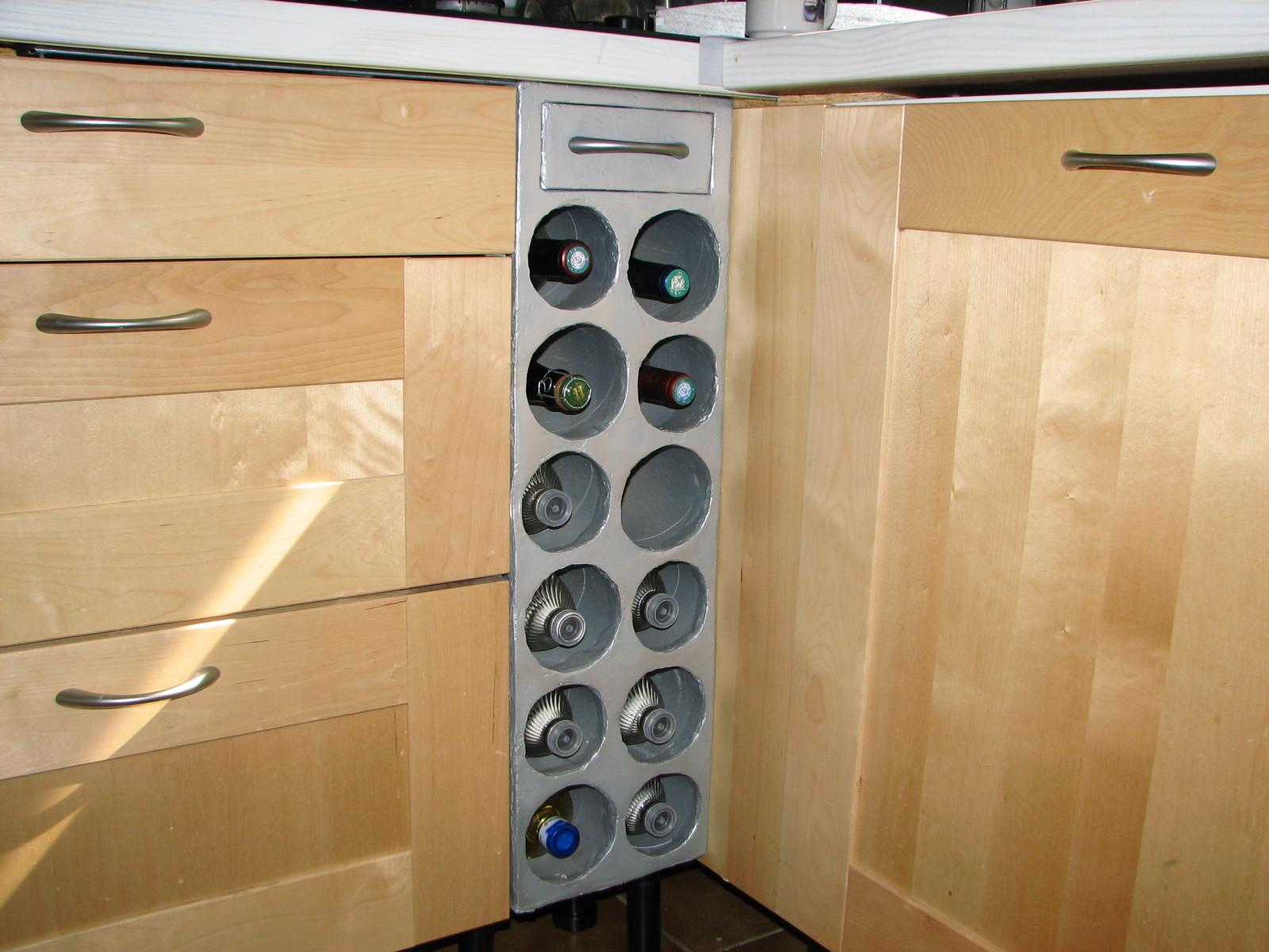 Casier a bouteille en bois pour cuisine - Casier bouteille cuisine ...