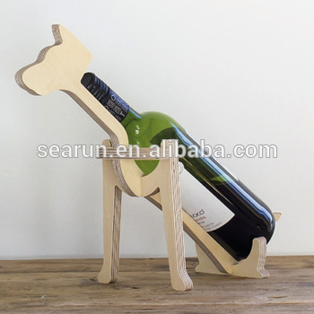 Support bouteille de vin en bois
