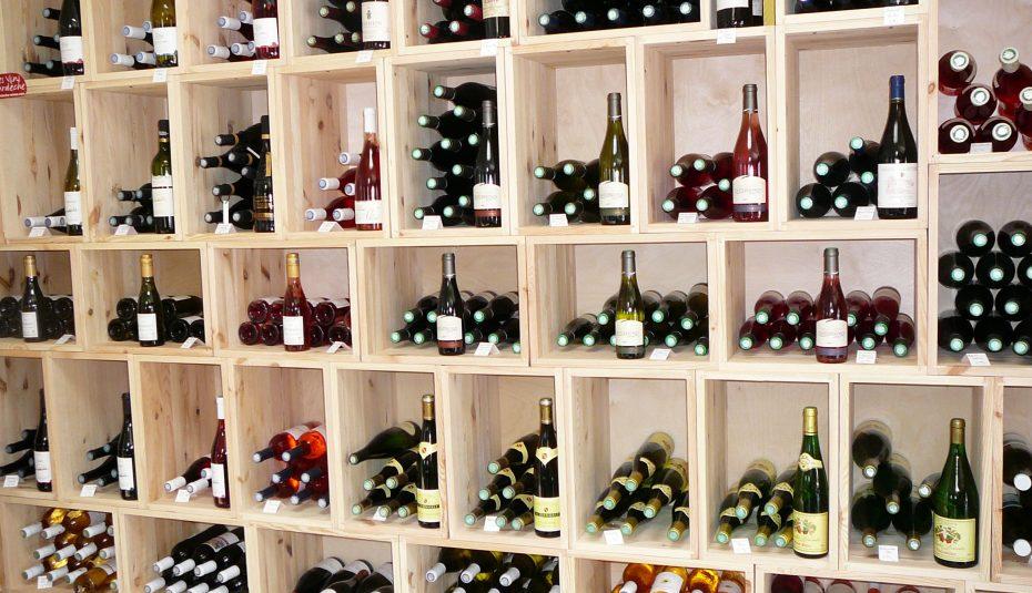 Range bouteille vin auchan