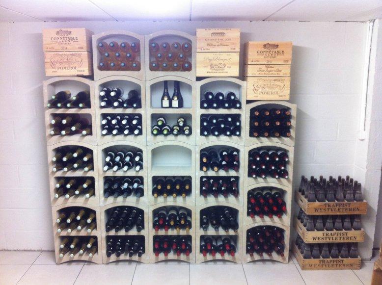 Rangement bouteille de vin