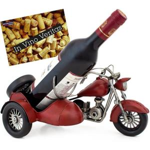 Porte bouteille en fer motard