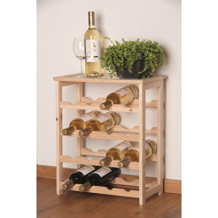 Casier bouteille de vin en bois