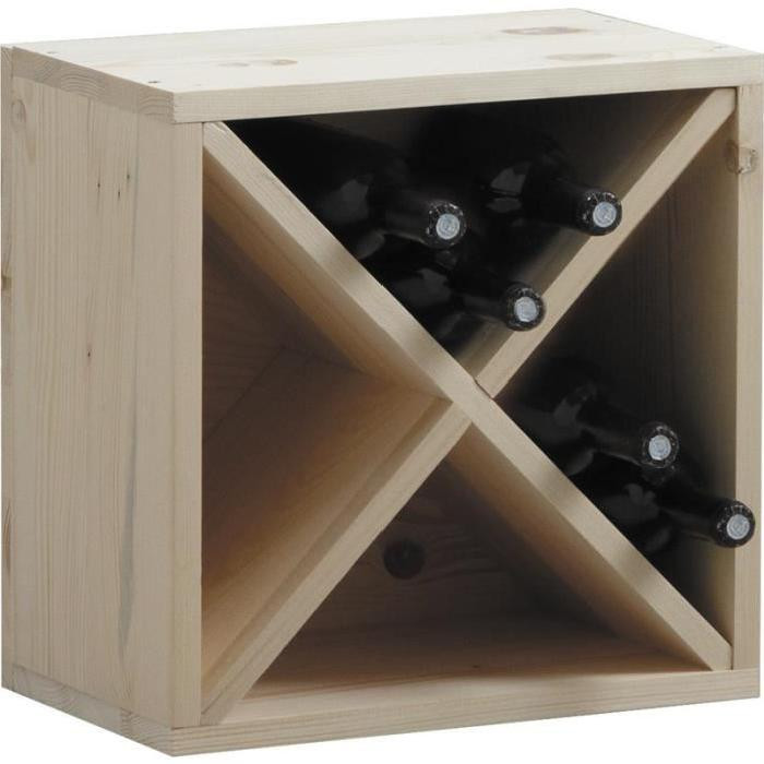 Casiers à bouteilles en bois pas cher