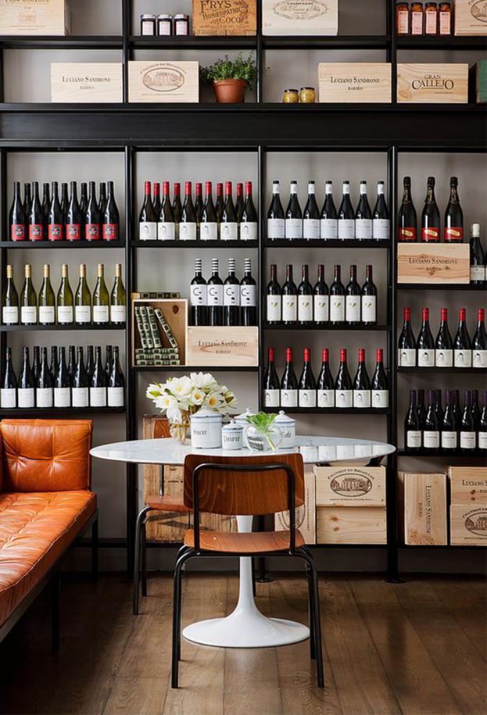 Rangement bouteille de vin fait maison