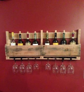 Rangement bouteille vin tiroir