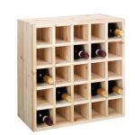 Range bouteille en bois fait maison