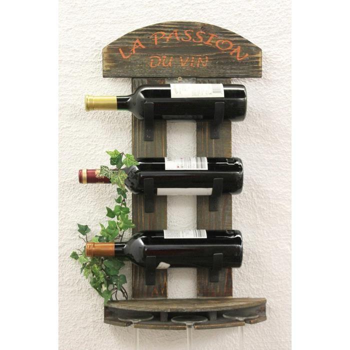 étagère à vin en bois