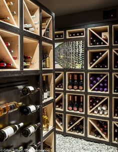 Cave a vin en bois design