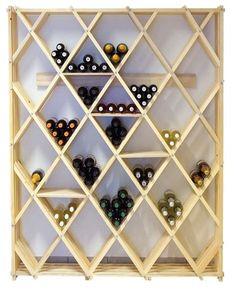 Range bouteille bois design