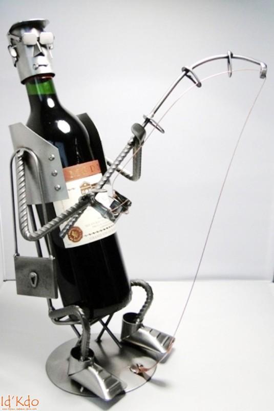 Porte bouteille de vin pecheur