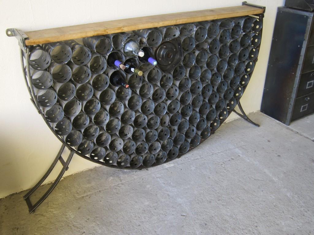 Porte bouteille de vin mural en bois