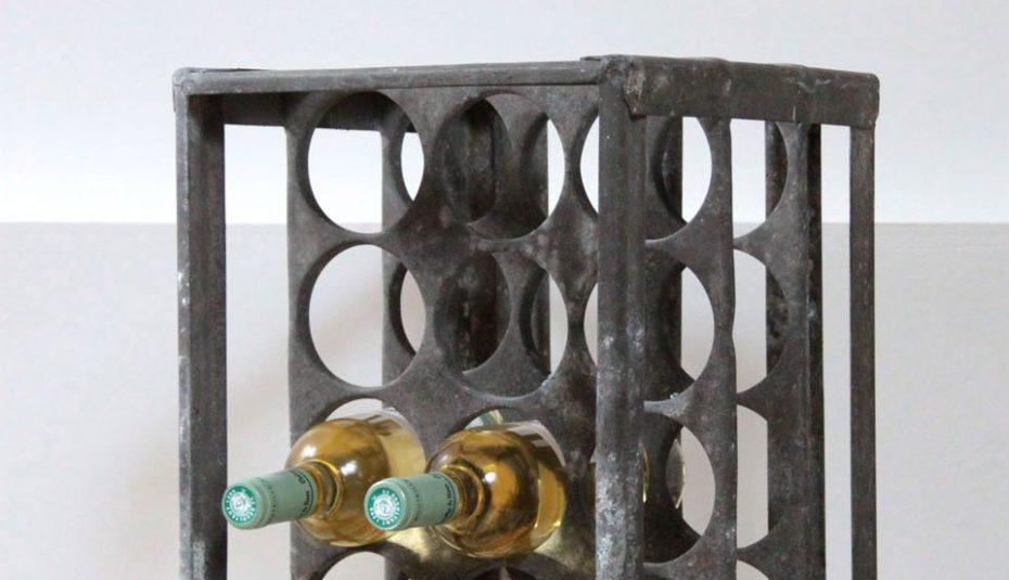 Casier bouteille metal ancien
