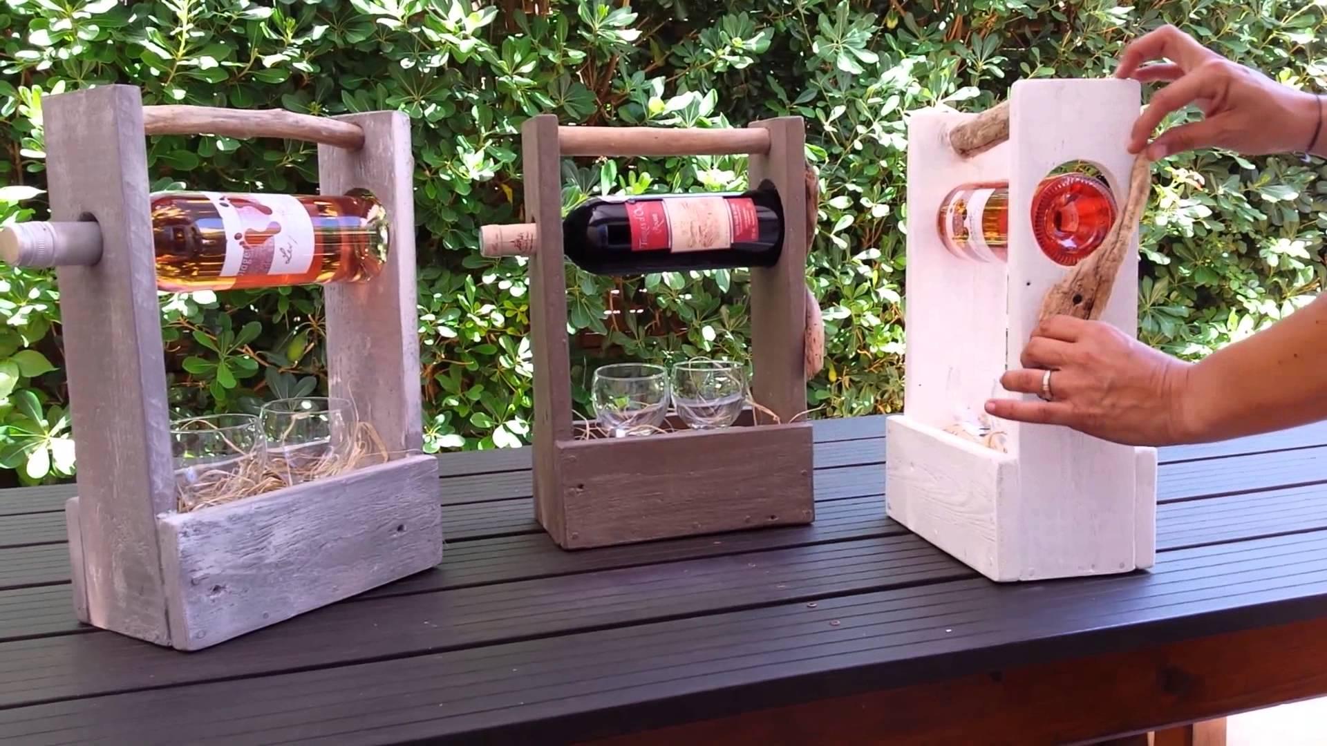 Porte bouteille de vin en palette