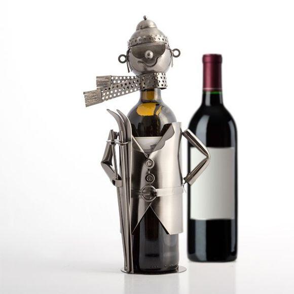 Porte bouteille vin personnage