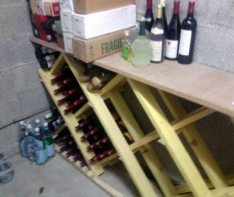 Porte bouteille vin fait maison