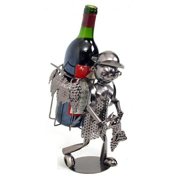 Porte bouteille de vin en metal