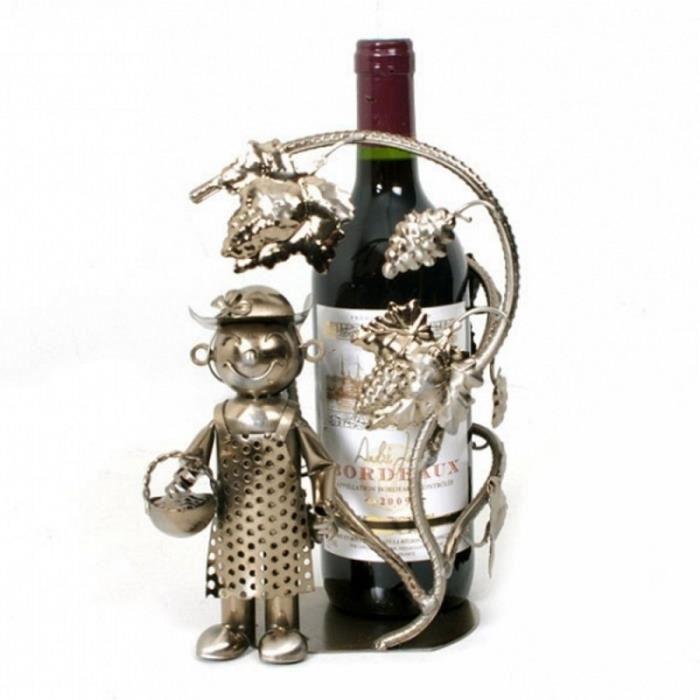 Porte bouteille en métal