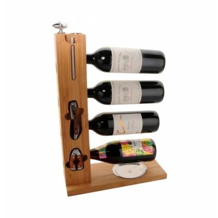 Porte bouteille de vin bois