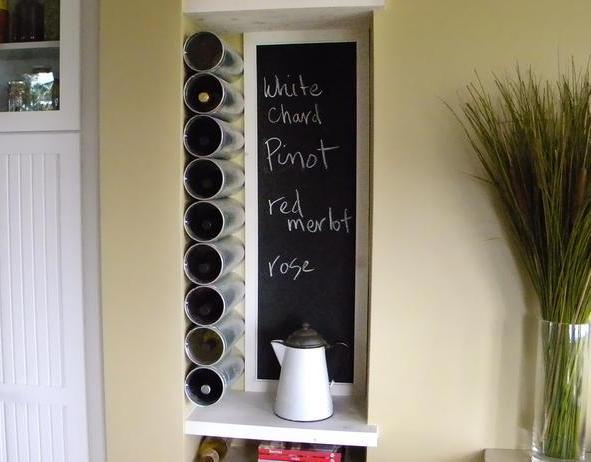 Porte bouteille mural vin