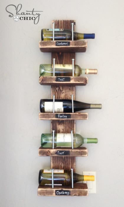 Porte bouteille deco bois