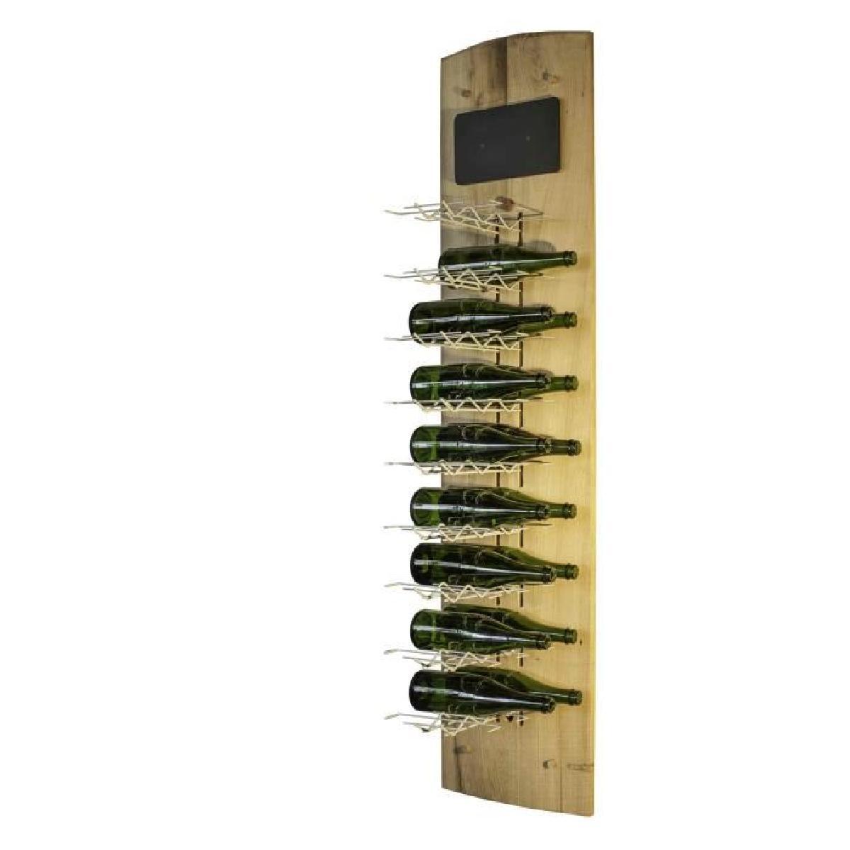 Casier bouteille metal bois