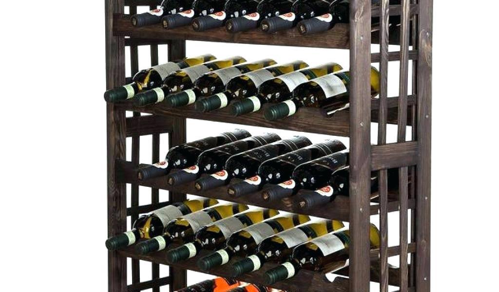 Rangement bouteilles de vin beton