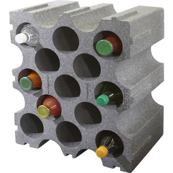 Casier à bouteilles en polystyrène