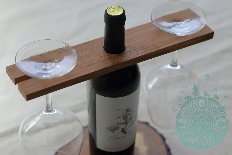 Support a vin en bois