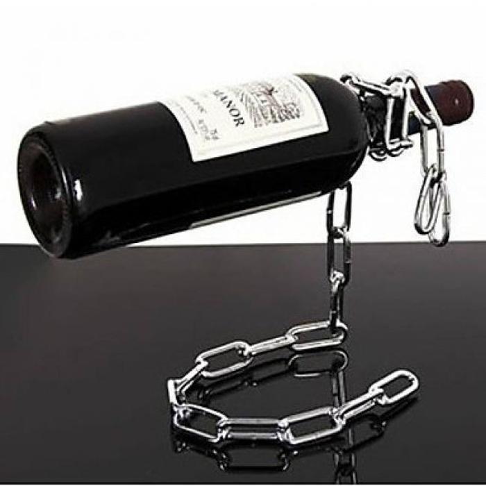 Porte bouteille de vin chaine