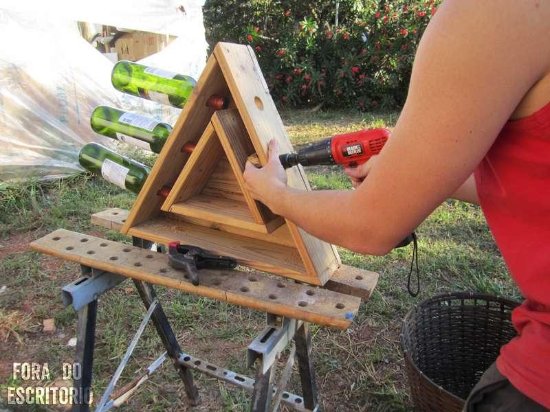 Porte bouteille vin palette